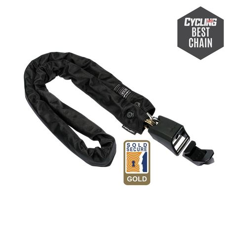 Hiplok Homie Stay At Home Chain Lock 10mm X 150cm Includes Wall Hook (Gold Sold Secure) click to zoom image