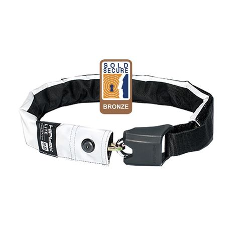 Hiplok Lite Wearable Chain Lock 6mm X 75cm - Waist 24-44 Inches (Bronze Sold Secure) Hi-viz click to zoom image
