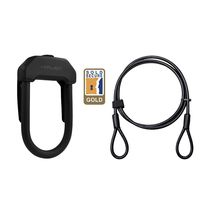 Hiplok Dx+ D Lock & 2m Cable: Black