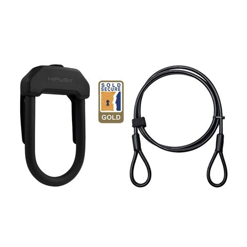 Hiplok Dx+ D Lock & 2m Cable: Black click to zoom image