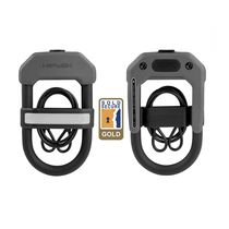 Hiplok Dxc D Lock 14mm X 15 X 8.5cm Hardened Steel + 5mm X 0.9m Cable + Cable Holder (Gold Sold Secure)