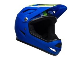 BELL Sanction MTB Full Face Helmet 2019: Agility Matte Blue/Green