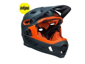 BELL Super Dh Mips MTB Helmet 2019: Matte/Gloss Slate/Orange