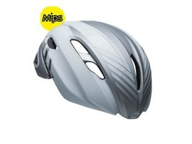 BELL Z20 Aero Mips Road Helmet 2019: Blower Matte/Gloss White/Silver