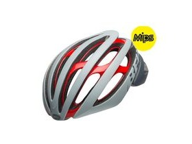 BELL Z20 Mips Road Helmet 2019: Remix Matte/Gloss Grey/Crimson