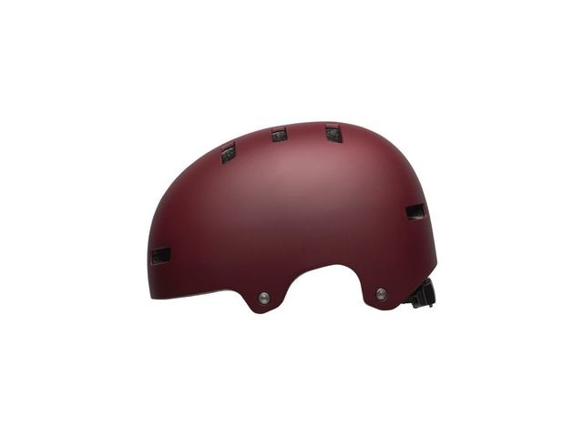 BELL Local BMX/Skate Helmet 2019: Matte Maroon click to zoom image
