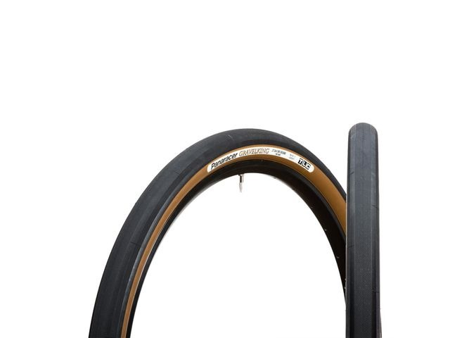 "PANARACER Gravelking TLC Folding Tyre Black/Brown 27.5x1.5"" click to zoom image"